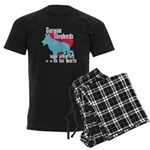 German Shepherd Pawprints Men's Dark Pajamas