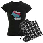 German Shepherd Pawprints Women's Dark Pajamas