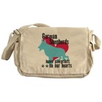 German Shepherd Pawprints Messenger Bag