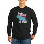 German Shepherd Pawprints Long Sleeve Dark T-Shirt