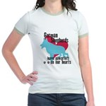 German Shepherd Pawprints Jr. Ringer T-Shirt