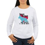 German Shepherd Pawprints Women's Long Sleeve T-Sh