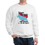 German Shepherd Pawprints Sweatshirt