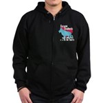 German Shepherd Pawprints Zip Hoodie (dark)