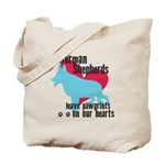 German Shepherd Pawprints Tote Bag