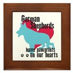 German Shepherd Pawprints Framed Tile