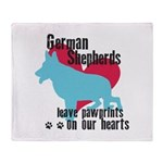 German Shepherd Pawprints Throw Blanket
