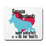 German Shepherd Pawprints Mousepad