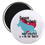 German Shepherd Pawprints Magnet