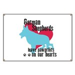 German Shepherd Pawprints Banner