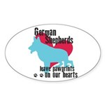 German Shepherd Pawprints Sticker (Oval 10 pk)