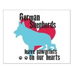 German Shepherd Pawprints Small Poster