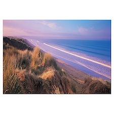 Tide on the beach, Saunton, North Devon, England