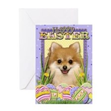 Easter Egg Cookies - Pom Greeting Card