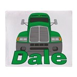Trucker Dale Throw Blanket