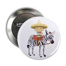 """ZEBRA EVAN 2.25"""" Button (10 pack)"""