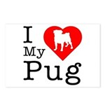 I Love My Pug Postcards (Package of 8)