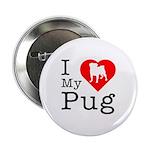 I Love My Pug 2.25