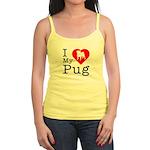 I Love My Pug Jr. Spaghetti Tank