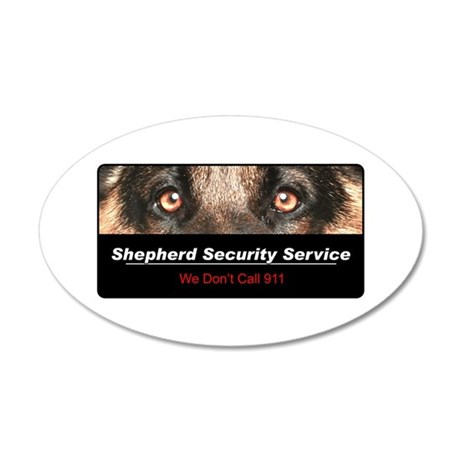 Shepherd Security Service 38.5 x 24.5 Oval Wall Pe