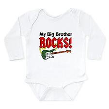 My Big Brother Rocks Long Sleeve Infant Bodysuit