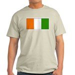 Ivory Coast Blank Flag Ash Grey T-Shirt