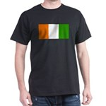 Ivory Coast Blank Flag Black T-Shirt