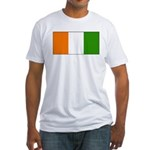 Ivory Coast Blank Flag Fitted T-Shirt