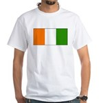 Ivory Coast Blank Flag White T-Shirt