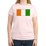 Ivory Coast Blank Flag Women's Pink T-Shirt