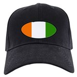 Ivory Coast Blank Flag Black Cap