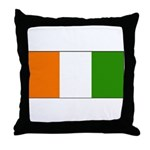 Ivory Coast Blank Flag Throw Pillow