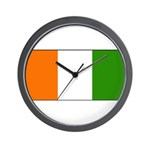 Ivory Coast Blank Flag Wall Clock