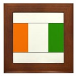 Ivory Coast Blank Flag Framed Tile