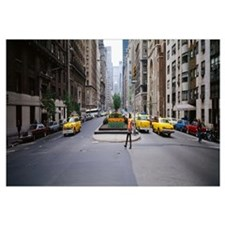 Traffic on the road in a city, Park Avenue, Manhat