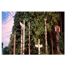Canada, Vancouver, Stanley Park, totems