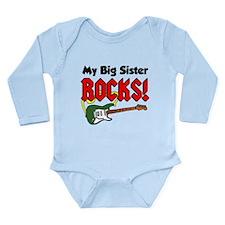 My Big Sister Rocks Long Sleeve Infant Bodysuit