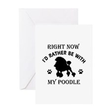 Poodle Dog Breed Designs Greeting Card