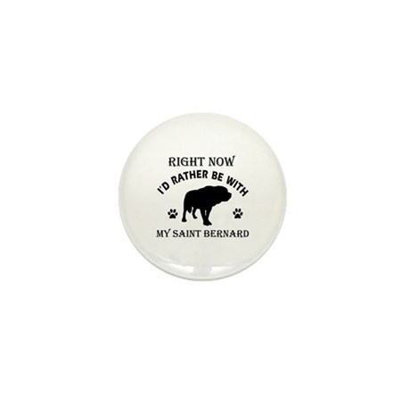 Saint Bernard Dog Breed Designs Mini Button (100 p