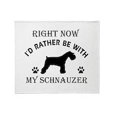 Schnauzer Dog Breed Designs Throw Blanket
