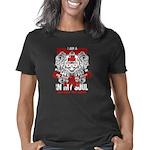Parvenu Women's V-Neck Dark T-Shirt
