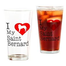 I Love My Saint Bernard Drinking Glass