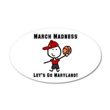 March Madness UMD 38.5 x 24.5 Oval Wall Peel