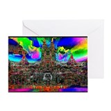 Lakeside Castle in Hell - Greeting Card
