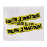 Lacrosse Crime Tape Throw Blanket