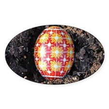 Pysanky in Furrow Decal