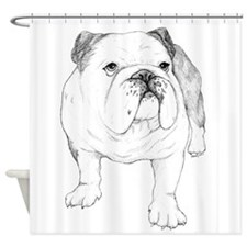Bulldog Drawing Shower Curtain