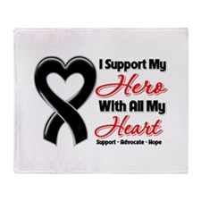 Skin Cancer Support Throw Blanket