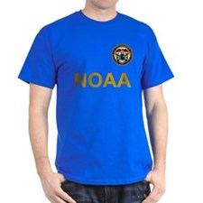 NOAA Commissioned Corps <BR>Black T-Shirt 4