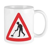 Warning, Detectorist Ahead Small Mug